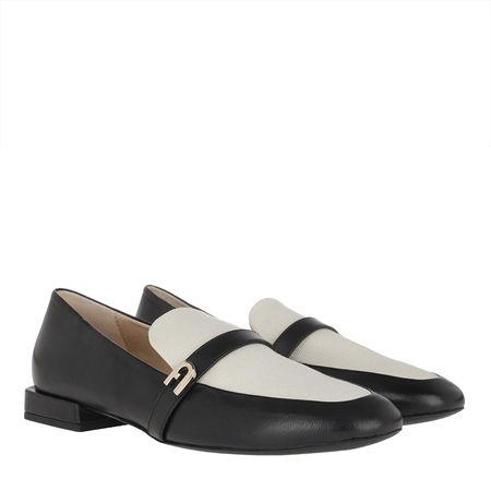 Furla  Schuhe  -  1927 Loafers Nero/Naturale  - in schwarz  -  Schuhe für Damen grau