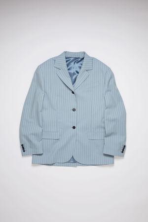 Acne Studios  FN-WN-SUIT000221 Light blue/navy Wool suit jacket grau