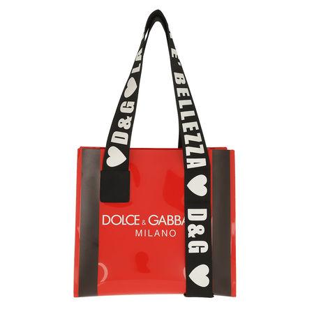 Dolce&Gabbana  Shopper  -  Logo Shopping Bag Rosso/Nero  - in rot  -  Shopper für Damen rot