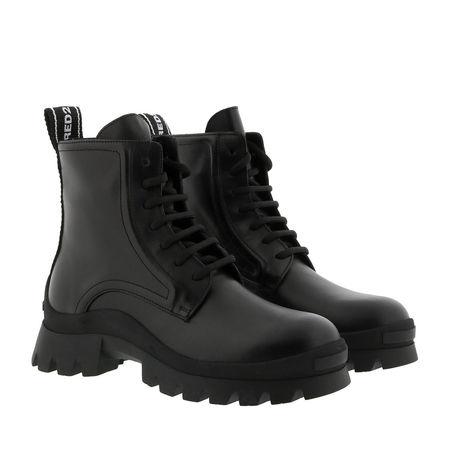 Dsquared2  Boots  -  Bootie Leather Nero/Nero  - in schwarz  -  Boots für Damen