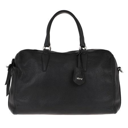 abro  Bowling Bag  -  Handle Bag Kim Big Black/Nickel  - in schwarz  -  Bowling Bag für Damen schwarz
