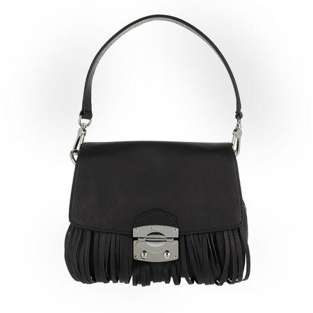 abro  Satchel Bag  -  Manolete Shoulder Bag Black/Nickel  - in schwarz  -  Satchel Bag für Damen weiss