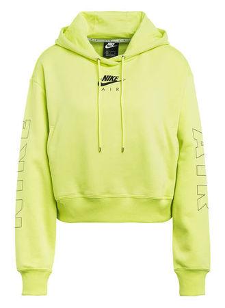 Nike  Cropped-Hoodie Air gelb gruen