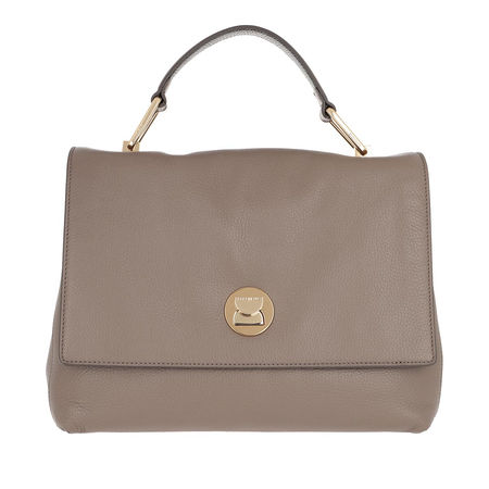 COCCINELLE  Satchel Bag  -  Liya Crossbody Bag Taupe/Noir  - in beige  -  Satchel Bag für Damen braun