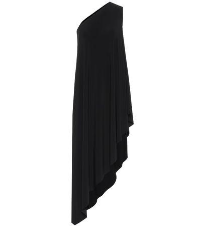 Norma Kamali Asymmetrisches Kleid schwarz