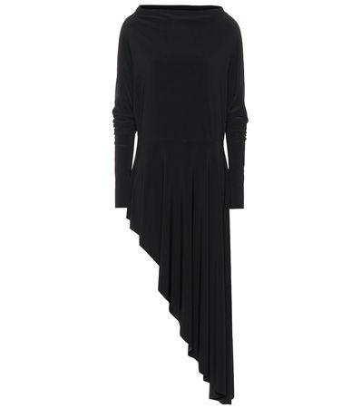 Norma Kamali Asymmetrisches One-Shoulder-Kleid schwarz
