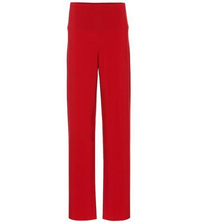 Norma Kamali High-Rise-Hose aus Jersey rot