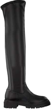 Notre-V -20%:  Overknees 01-6100 Schwarz Damen Damen Größe 36 Leder-Optik schwarz
