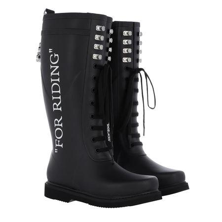 OFF-WHITE  Boots - Wellington For Riding Boots Black White - in schwarz - für Damen schwarz