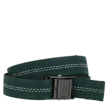 OFF-WHITE  Gürtel  -  Mini Industrial Belt Dark Green  - in grün  -  Gürtel für Damen grau