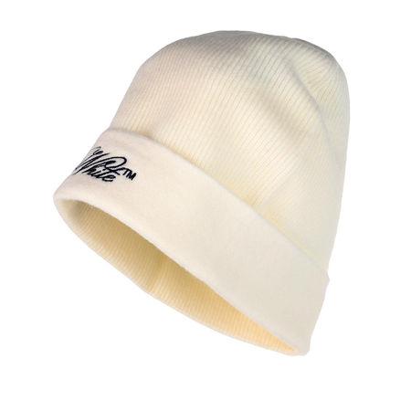 OFF-WHITE  Mützen - Embroidered Logo Wool Beanie Hat - in beige - für Damen braun
