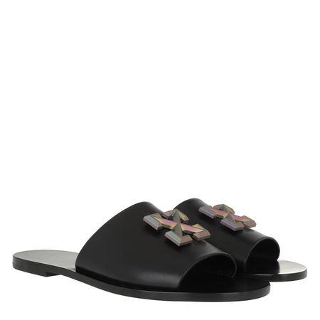 OFF-WHITE  Schuhe - Leather Arrow Slider Black - in schwarz - für Damen schwarz