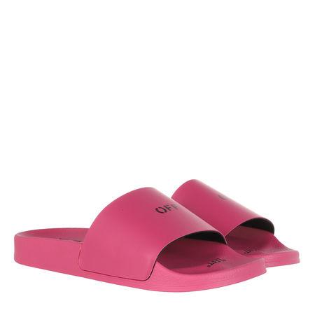 OFF-WHITE  Slipper & Pantoletten - Pool Slider - in pink - für Damen pink