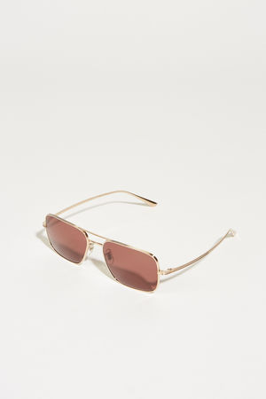 Oliver Peoples  - Sonnenbrille x The Row 'Victory L.A.' Rosé beige