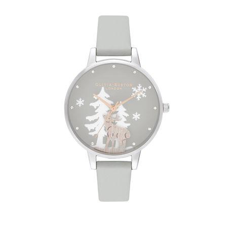 Olivia Burton  Uhr  -  Quartz Watch Women Winter Wonderland OB16AW02 Grey  - in grau  -  Uhr für Damen grau