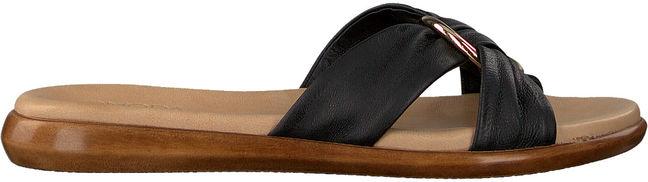 Omoda -30%:  Pantolette As06 Schwarz Damen Damen Größe 36 Leder schwarz