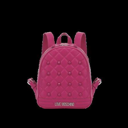 Love Moschino  Gesteppter Rucksack Mit Nieten Damen Gr. U/Onesize Pink