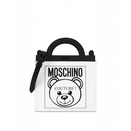 MOSCHINO  Mini-shopper Teddy Label Damen Gr. U/Onesize Weiß weiss