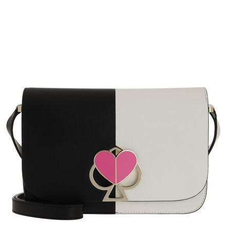 Kate Spade  New York Umhängetasche  -  Nicola Bicolor Twistlock Medium Shoulder Bag Black/Optic White  - in weiß  -  Umhängetasche für Damen schwarz