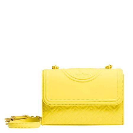 Tory Burch ® - Handtasche aus Leder in Ocker/Braun/Gelb/Beige/Orange für Damen, Größe UNI gelb