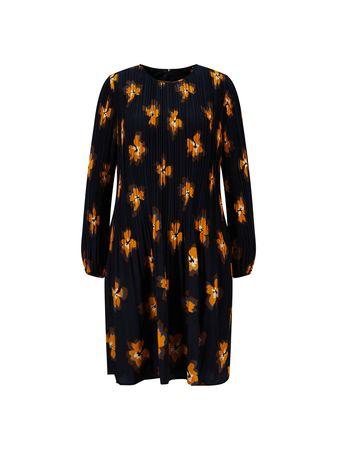Steffen Schraut  - Kleid mit floralem Print 'Kiki's Fancy Dress' Blau/Orange schwarz