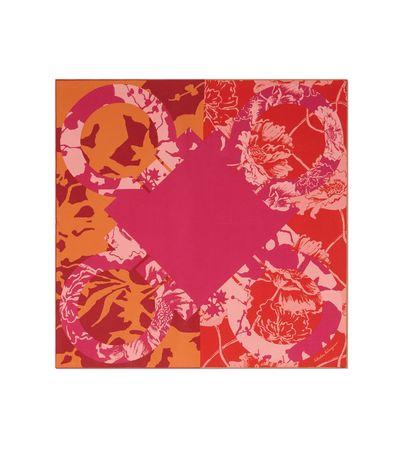 Salvatore Ferragamo  Damen Seidentuch Printmotiv Gancini Rot/rosa/orangefarben pink