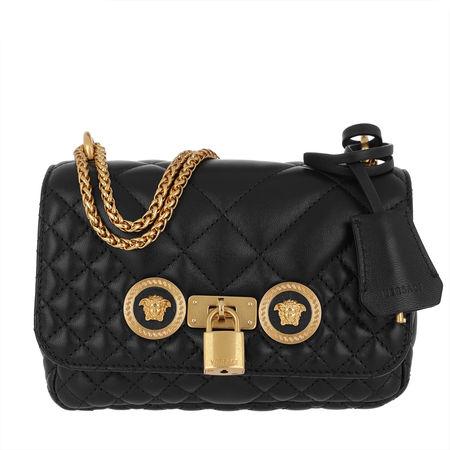 Versace  Umhängetasche  -  Quilted Crossbody Bag Nero/Oro  - in schwarz  -  Umhängetasche für Damen schwarz