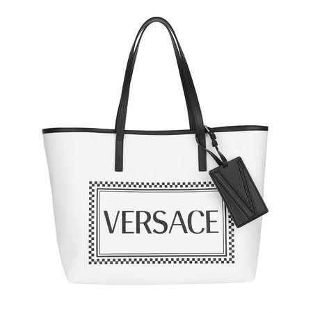 Versace  Shopper  -  Logo Tote Bianco/Nero/Oro  - in weiß  -  Shopper für Damen weiss