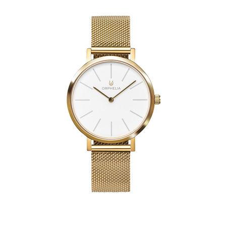 Orphelia  Uhr  -  Ladies Analogue Watch Felicity Gold  - in gold  -  Uhr für Damen weiss