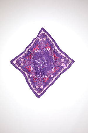 Acne Studios  FN-UX-SCAR000135 Purple/pale pink Paisley scarf weiss