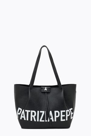 Patrizia Pepe  Shopper Pepe City Medium Nero - Schwarz Damen Gr.U weiss