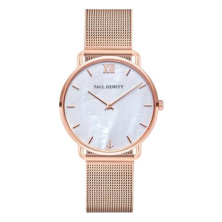 Paul Hewitt  Uhr  -  Watch Miss Ocean Line Pearl Mesh Strap Rosegold  - in roségold  -  Uhr für Damen lila