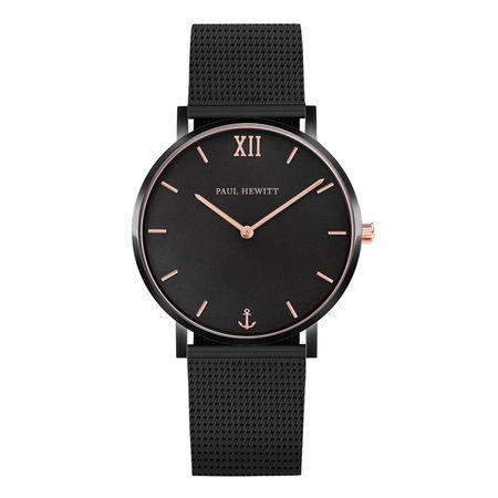 Paul Hewitt  Uhr - Watch Sailor Line Mesh Strap - in black - für Damen schwarz