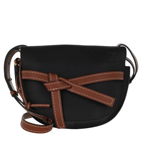 Loewe  Umhängetasche  -  Gate Bag Small Black/Pecan  - in schwarz  -  Umhängetasche für Damen schwarz