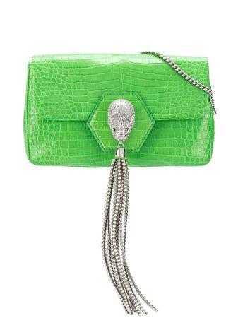 Philipp Plein  Schultertasche mit Kristallen - Grün gruen