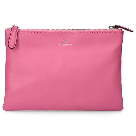 Philippe Model  Handtasche CHOLET Kalbsleder Logo rosa pink