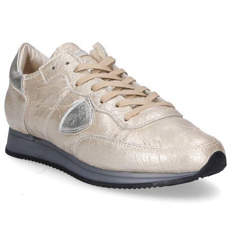 Philippe Model Sneaker low TROPEZ  Logo Patch gold braun