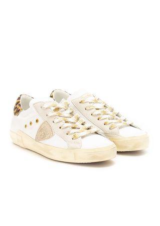 Philippe Model Sneakers aus Leder in Weiß