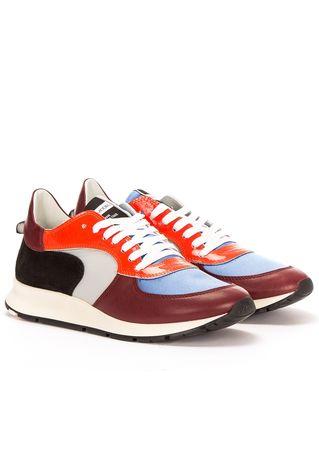 "Philippe Model Sneakers ""Montecarlo"" in Rot und Blau"