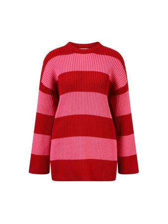 Balenciaga  - Baumwoll-Pullover Rot/Pink