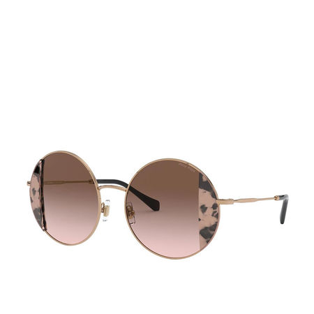 Miu Miu  Sonnenbrille  -  Women Sunglasses Core Collection 0MU 57VS Pink Havana/Pink Gold  - in roségold  -  Sonnenbrille für Damen braun