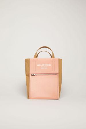 Acne Studios  FN-UX-BAGS000048 Brown/pink Mini tote bag grau