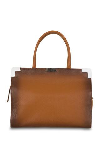 PINKO Handtasche aus Leder in Mittelbraun braun