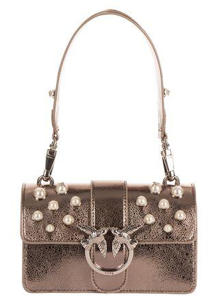PINKO Kleine Tasche in Metallic braun