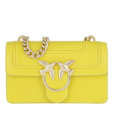 PINKO  Umhängetasche  -  Mini Love Crossbody Bag Giallo Fluo  - in gelb  -  Umhängetasche für Damen gelb