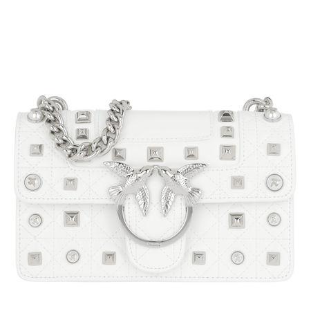 PINKO  Umhängetasche  -  Mini Love Idillio Crossbody Bag Grigio Argento  - in weiß  -  Umhängetasche für Damen grau