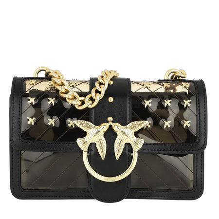 PINKO  Umhängetasche  -  Mini Love Plastic Crossbody Bag Nero Limousine  - in schwarz  -  Umhängetasche für Damen schwarz