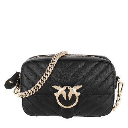 PINKO  Umhängetasche  -  Square Mix Crossbody Bag Nero Limousine  - in schwarz  -  Umhängetasche für Damen grau