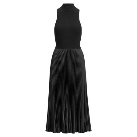 Polo Ralph Lauren Ärmelloses Rollkragenkleid schwarz
