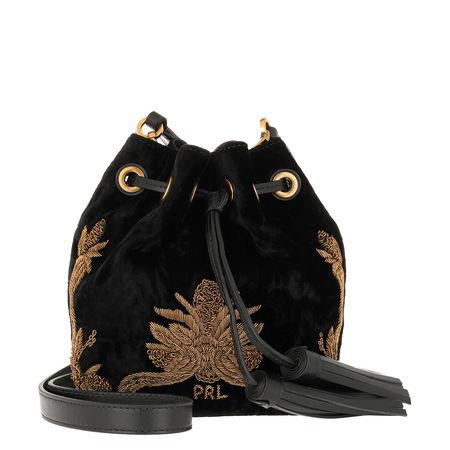 Polo Ralph Lauren  Beuteltasche  -  Brooke SM Drawstring Crossbody Bag Small Black  - in schwarz  -  Beuteltasche für Damen schwarz